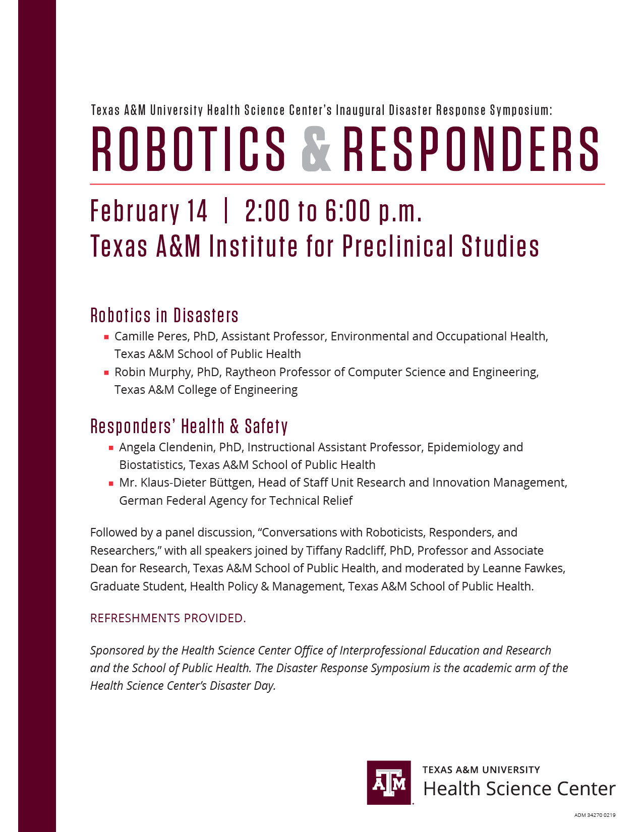 Robotics and Responders Symposium